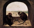 Two Chained Monkeys 1562