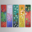 Hand-painted Oil Painting Abstract Oversized Wide - Set of 5