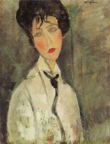 woman with a black tie 1917