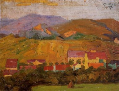 village with mountains 1907