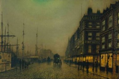 Liverpool Quay By Moonlight 1887