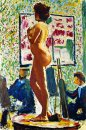 Life Class at the ?cole des Beaux-Arts (Fauvist Nude)