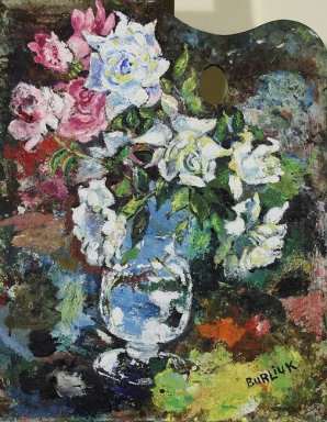 Still Life With Fliwers On Palette