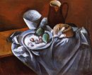 still life with pears and indian bowl