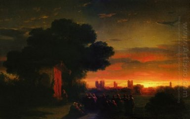 View Of Crimea At Sunset 1862