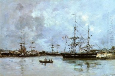 The Port Of Deauville 1875
