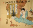 Girl taking a bath-Xizhao - Chinese Painting