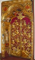 the Royal Gates of the Zhovkva iconostasis