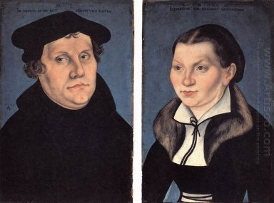 Diptych With The Portraits Of Martin Luther And His Wife 1529