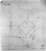 Axonometric Menggambar Of The House In Meudon