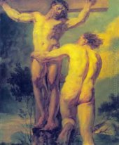 Crucifixion Etude Of Two Sitters 1800