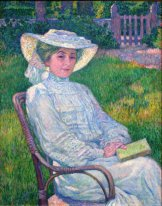 Lady In White Portrait Of Mrs Théo Van Rysselberghe