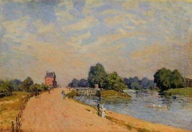 the road from hampton court 1874