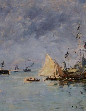 Trouville The Jettys High Tide 1897