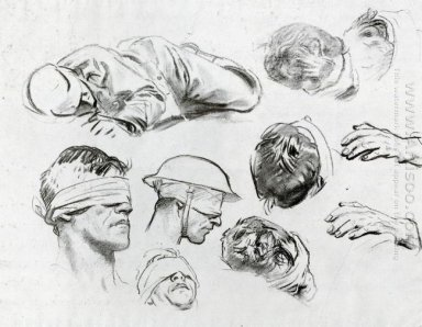 Heads Hands And Figure Also Known As Studies For Gassed 1918