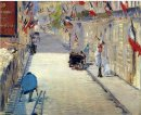 rue mosnier decorated with flags 1878