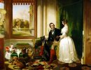 Queen Victoria and Prince Albert at home at Windsor Castle in Be