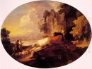 River Landscape With Rustic Lovers 1781