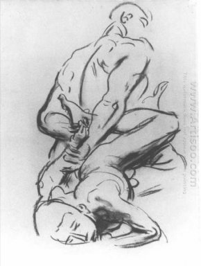 Study For A Devil And Victim In Judgement