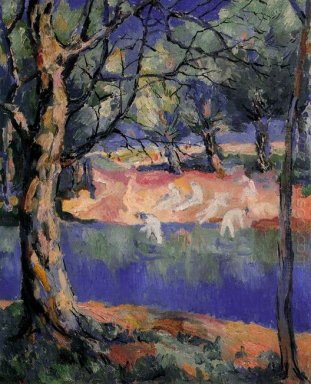 River In Forest 1908