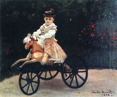 Jean Monet On His Horse Tricycle