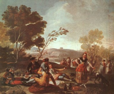 Picnic On The Banks Of The Manzanares 1776