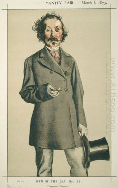 Men Of The Day No 580 Caricature Of Mr Thomas Mayne Reid