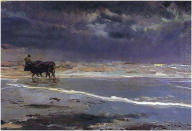 Gray Day On Valencia Beach 1901
