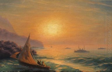 Sunset At Sea 1899
