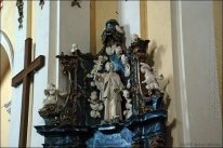 Altar of St. Nicholas with a sculpture of Jan Nepomuk