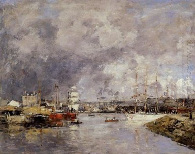 The Port Of Dieppe 1888