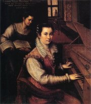 Self-Portrait at the Clavichord with a Servant