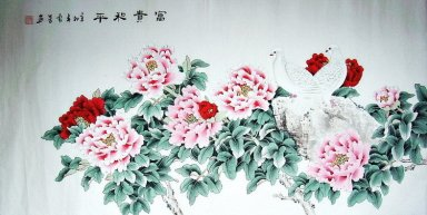 Peony&Pigeon - Chinese Painting