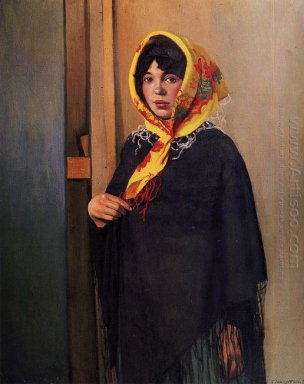 Young Woman With Yellow Scarf 1911