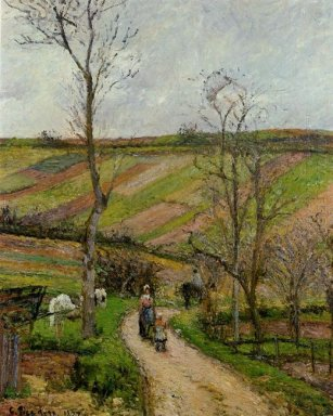 route du fond in hermitage pontoise 1877