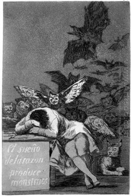 Caprichos Plate 43 The Sleep Of Reason Produces Monsters