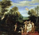 landscape with the toilet of venus 1609