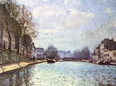 view of the canal saint martin 1870