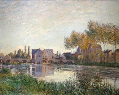 sunset at moret 1888