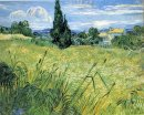 Green Wheat Field With Cypress 1889 1