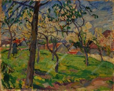 Apple Tree In Blossom 1907