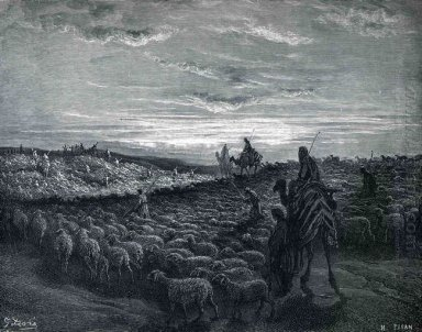 Abraham Journeying Into The Land Of Canaan 1866