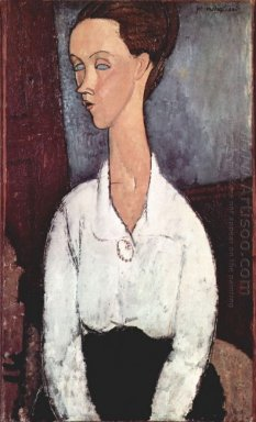 portrait of lunia czechowska in white blouse 1917