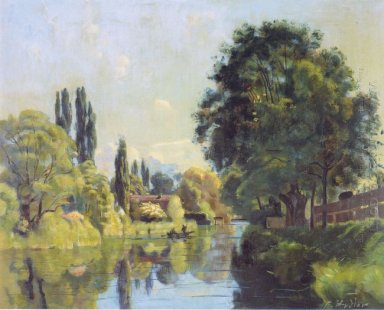 The Aarekanal Near Thun 1879