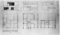 Design For A House And Studio For Bertalan Pór Elevations And Pl
