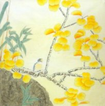 Yellow leaf-Bird - Chinese Painting