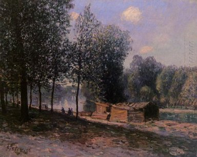 cabins by the river loing morning 1896