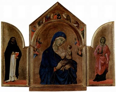 London Triptych Madonna With Angels And Prophets 1305
