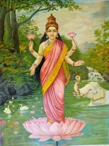 Lakshmi, the goddess of wealth