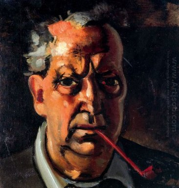 self portrait with a pipe 1953